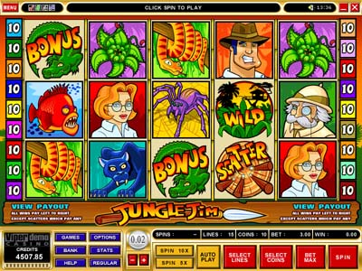 Jungle Jim video slot