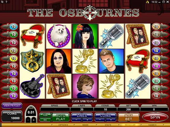 The Osbournes online slot game